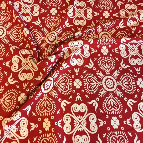 Úplet - red/white floral pattern