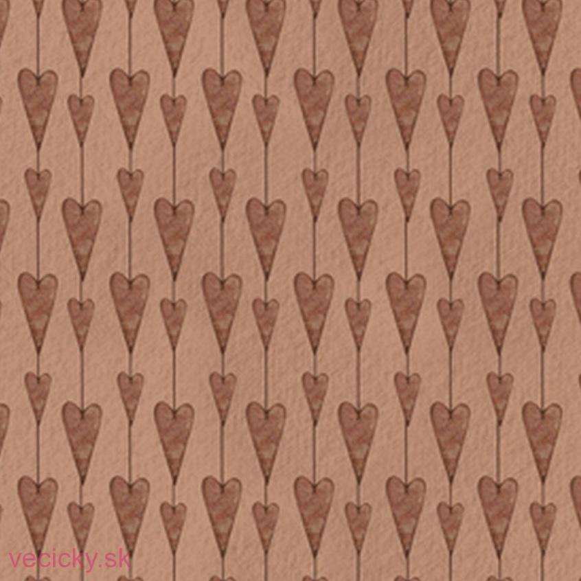 QUILTING TREASURES - MIRABELLE TERRACOTTA SET HEARTS