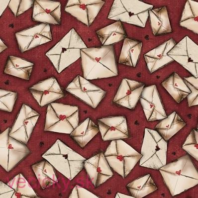 QUILTING TREASURES - ENVELOPES CRANBERRY