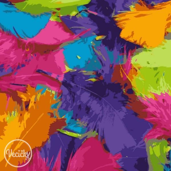 ÚPLET - pierka farebné b82732b00a9