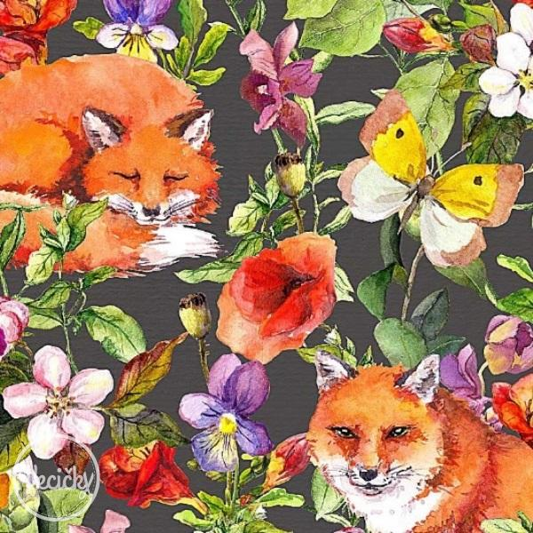 ÚPLET - foxes and flowers