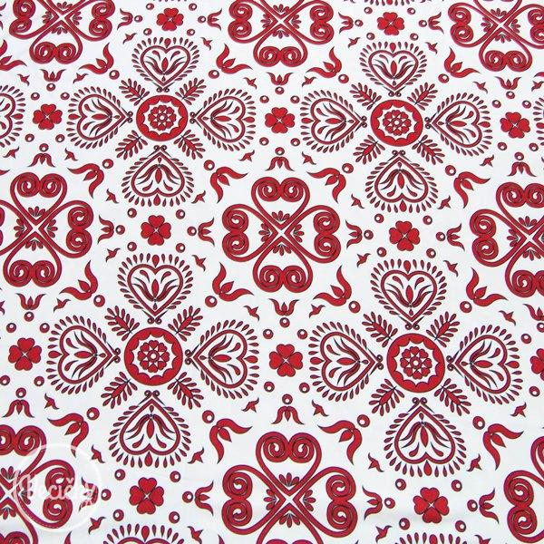 Úplet - red floral pattern