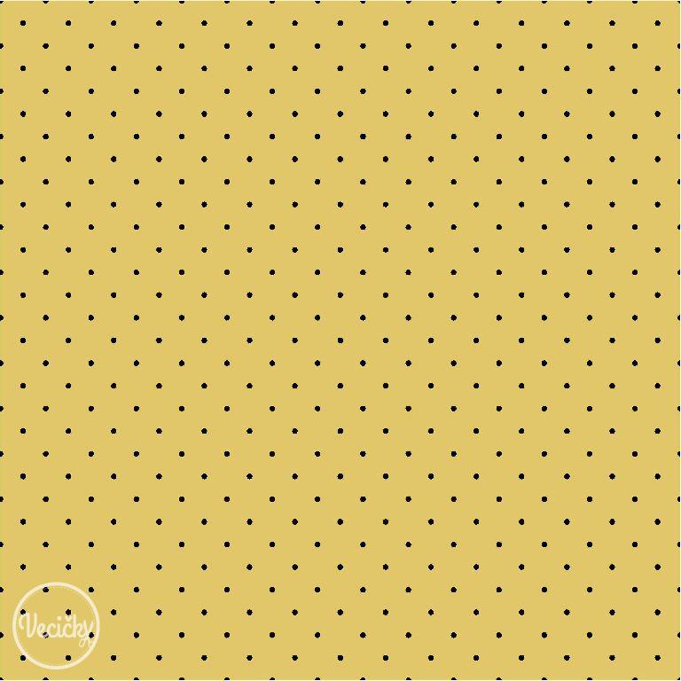 ÚPLET - Tiny dots ochre/black