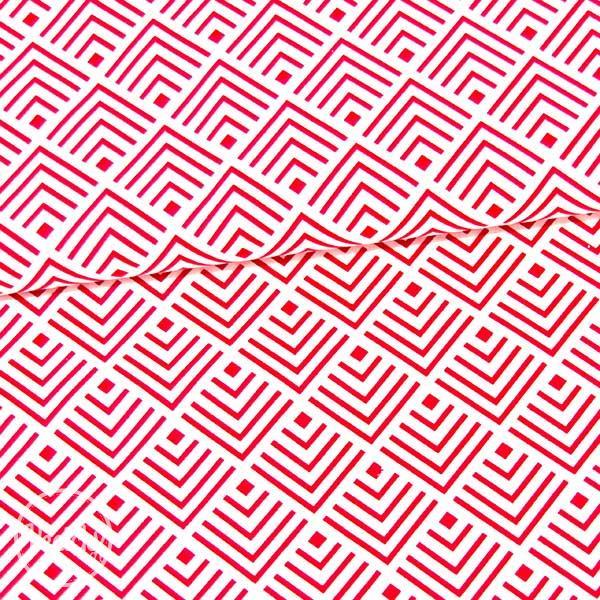 039a706022c5 Bavlna - vzorovaný kosoštvorec - červeno biela
