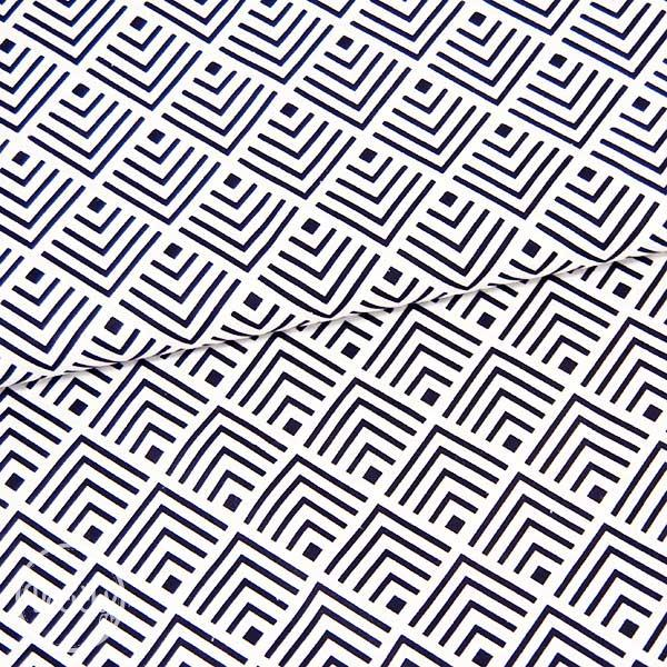 b5ce4af28fcc Bavlna - vzorovaný kosoštvorec - čierno biela