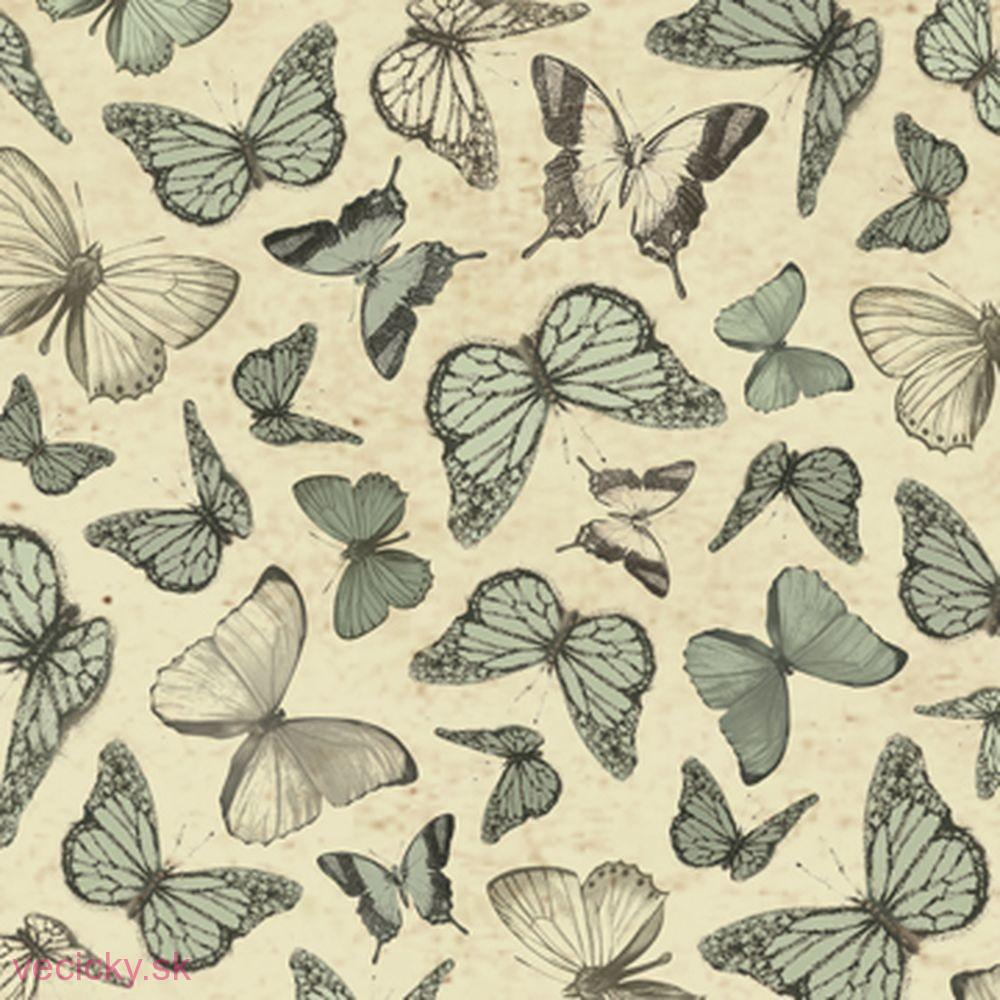 QUILTING TREASURES - MIRABELLE SAGE BUTTERFLIES