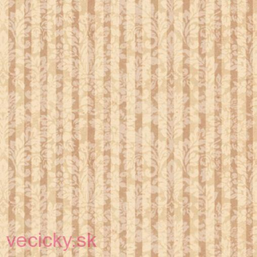 QUILTING TREASURES - MIRABELLE TERRACOTTA DAMASK STRIPE