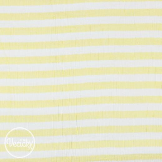 Dvojitá gázovina - stripe yellow