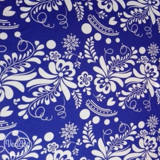 Úplet - blue/white folk ornament MAXI