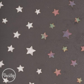 Magic Softshell - stars grey - zbytok 85 cm