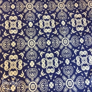 Úplet - blue/white floral pattern