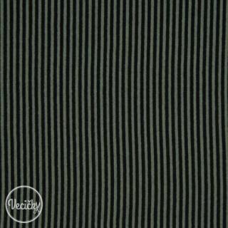 f7b08f6bd Patent elastický hladký - army black pásik - zbytok 30 cm empty