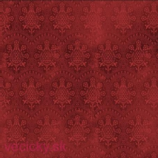 QUILTING TREASURES - LACE DAMASK CRANBERRY