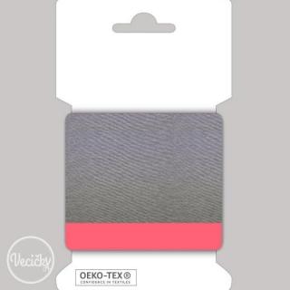 bfae895f6 Patent elastický hladký 7cm melír sivý-neón ružový empty