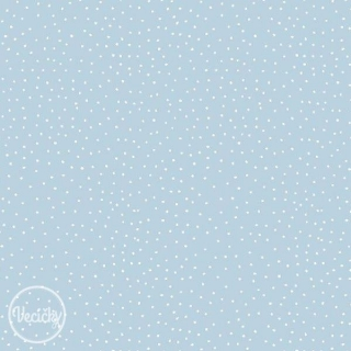 Bavlna - charming dots light blue