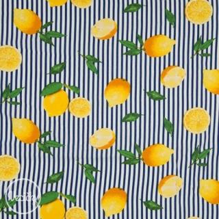 59670c02ccf7 Viskózová látka - citróny navy empty