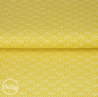ade002e22d16 popelín - lotosový kvet žltý empty