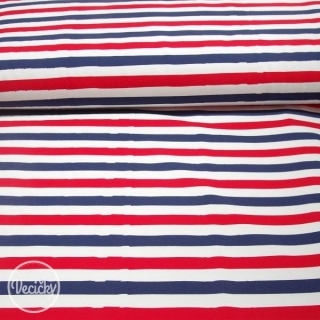 Úplet - stripes red blue white