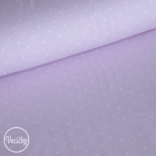 ÚPLET - Tiny dots light purple/white