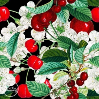 BIO ÚPLET - sweet cherries black